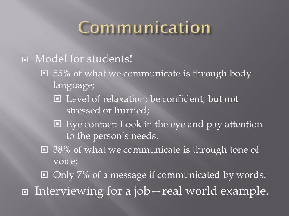  Model for students.