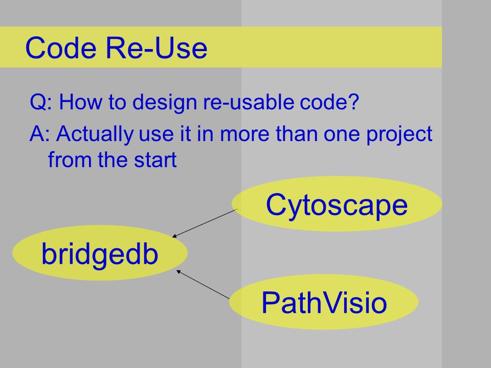 Q: How to design re-usable code.
