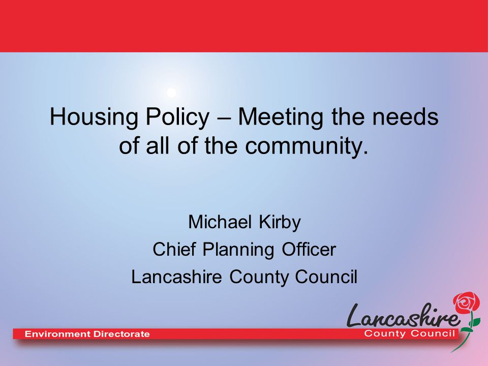 LDFs and Community Involvement All Councils will produce a Local Development Framework.