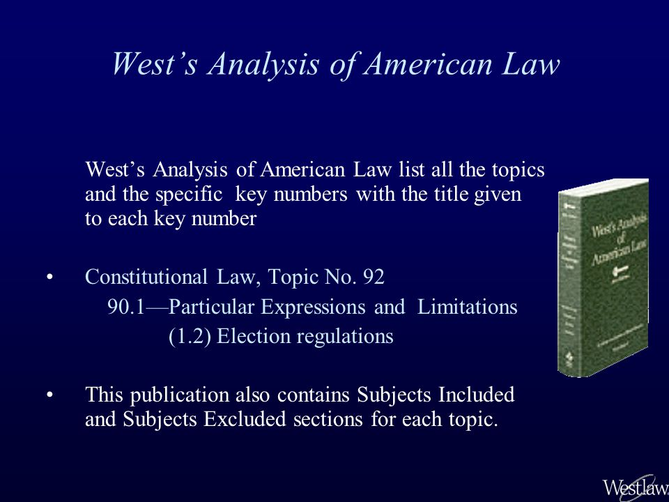 Using Key Numbers to Find Relevant Cases on Westlaw After conducting a word search on Westlaw, you find a relevant case with an on-point headnote.