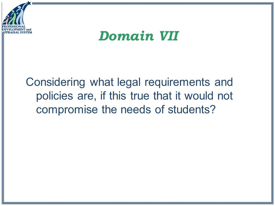 Considering what legal requirements and policies are, if this true that it would not compromise the needs of students?