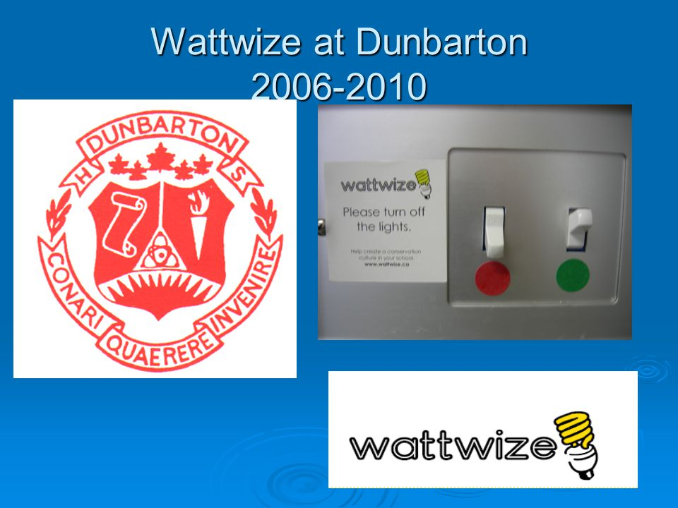 Where Does Wattwize Fit. Grade 9 Science – Electricity -Audits of classrooms and offices.