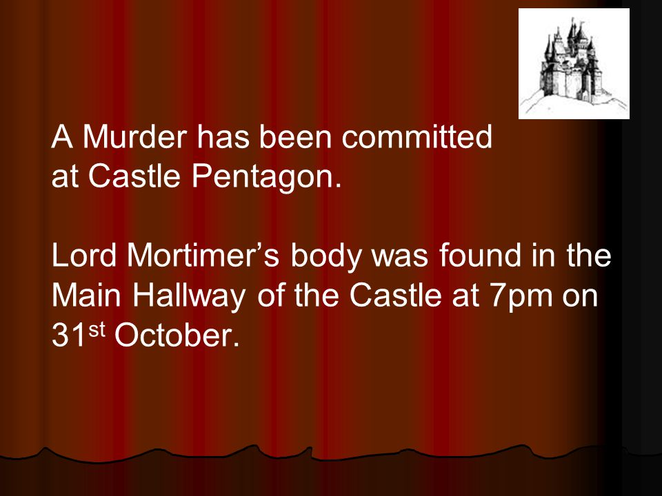 A Murder has been committed at Castle Pentagon.