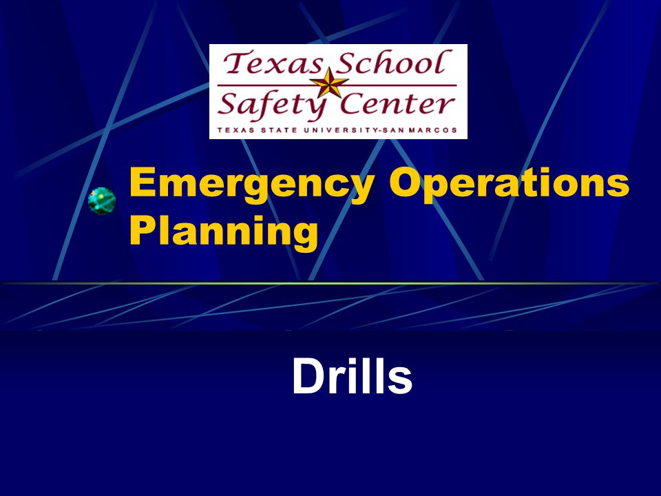 Evacuation Drills Students and staff members should be familiar with exit routes; diagrams of these should be posted in rooms.