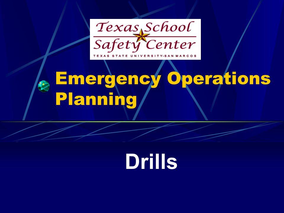 Emergency Operations Planning Drills