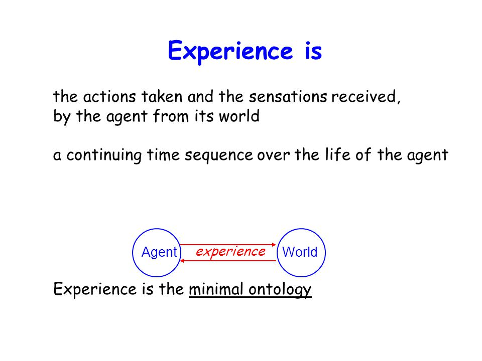 Experience matters, and must be respected Experience matters because It is what life is all about.