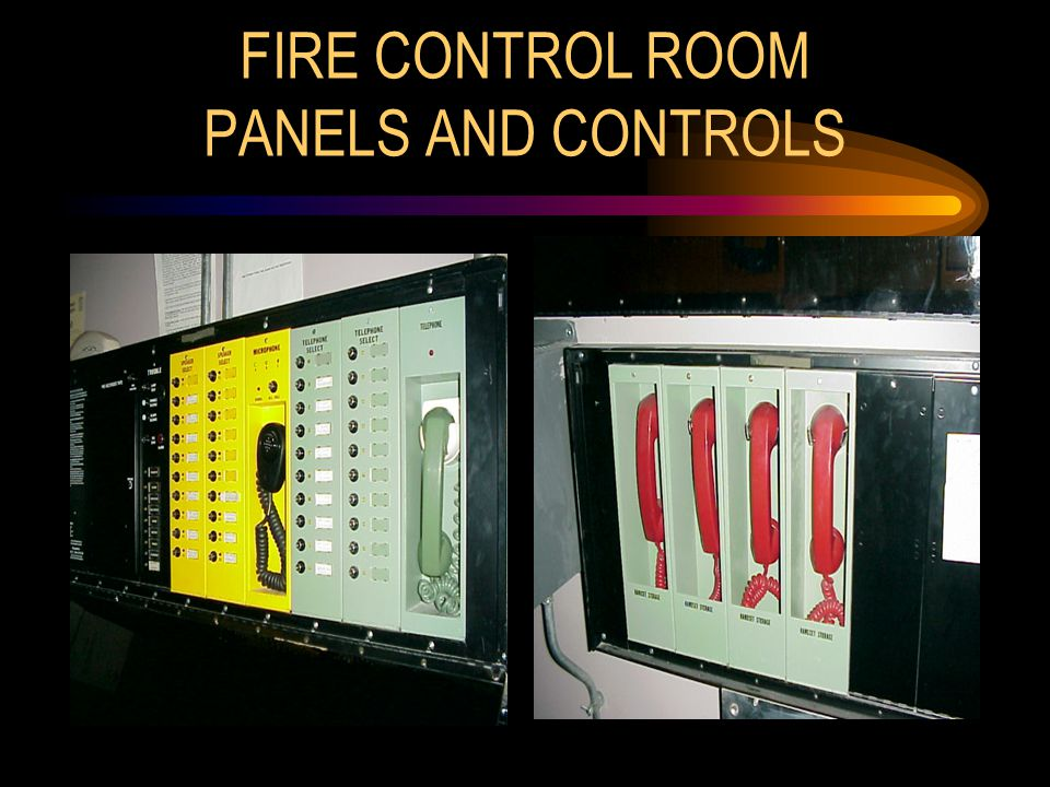 FIRE CONTROL ROOM PANELS AND CONTROLS