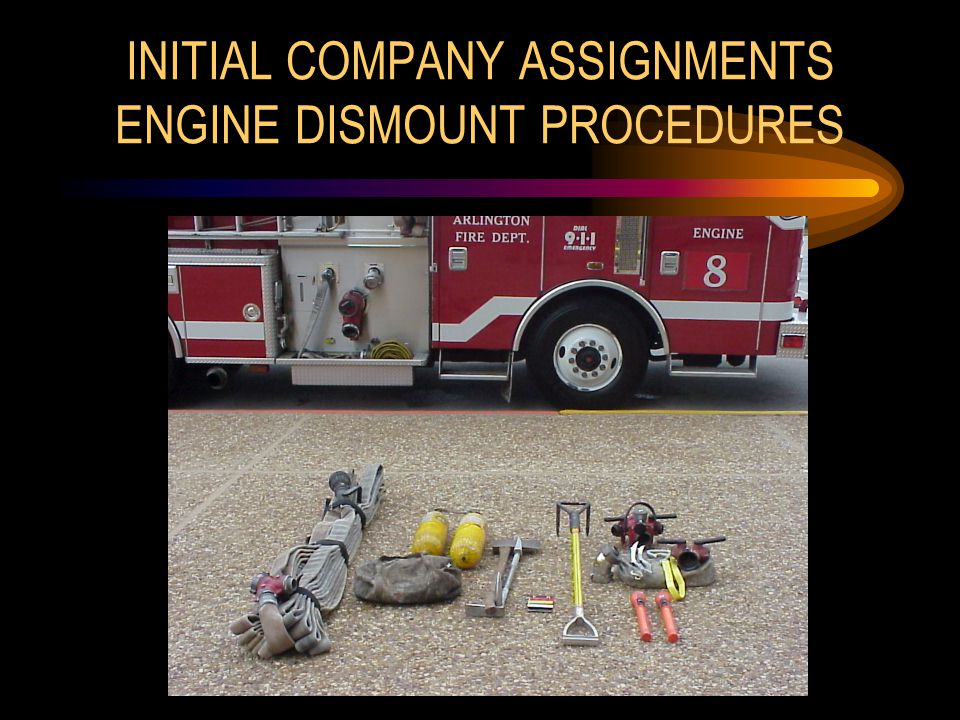 INITIAL COMPANY ASSIGNMENTS ENGINE DISMOUNT PROCEDURES