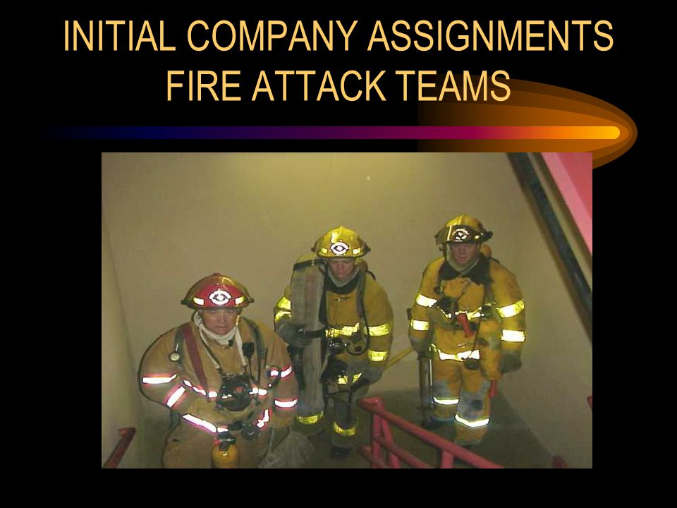 INITIAL COMPANY ASSIGNMENTS FIRE ATTACK TEAMS