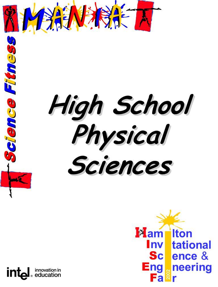 Science FitnessScience Fitness Science FitnessScience Fitness am lton I nv tational ScSc ence & E ng neering FaFa r 2002 High School Physical Sciences High School Physical Sciences