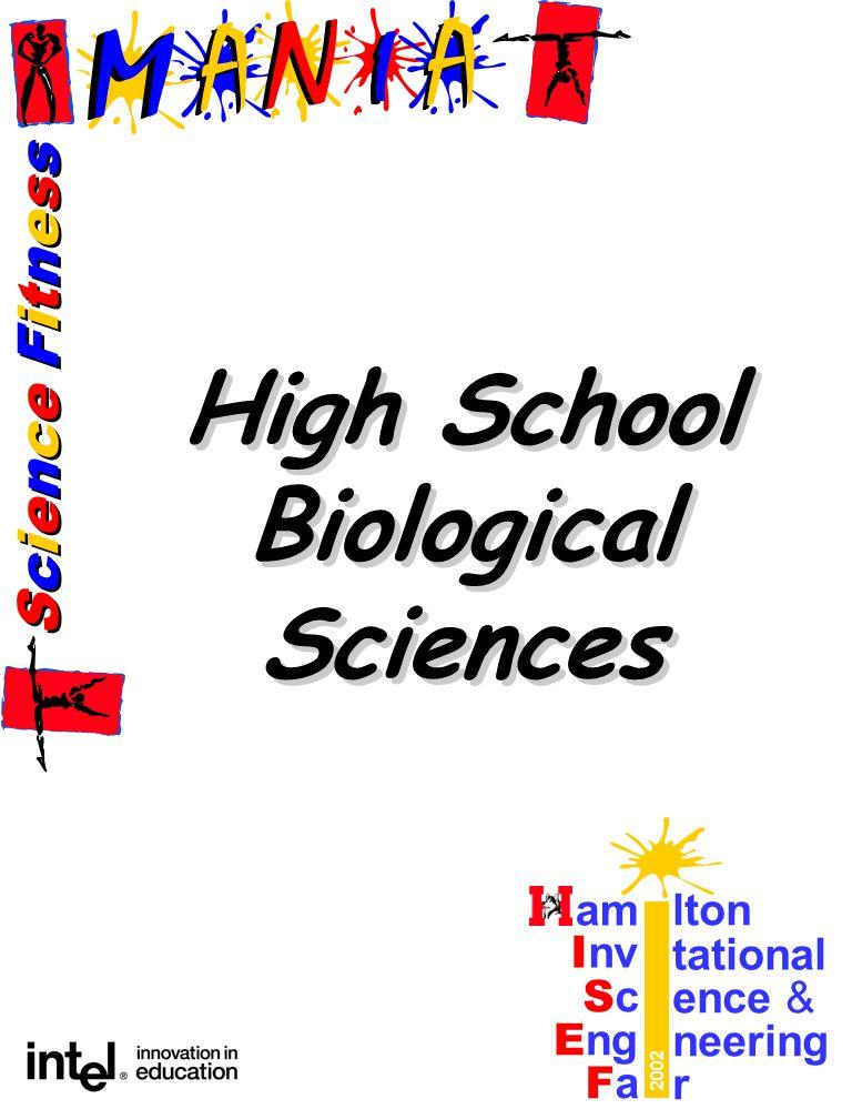 Science FitnessScience Fitness Science FitnessScience Fitness am lton I nv tational ScSc ence & E ng neering FaFa r 2002 High School Biological Sciences High School Biological Sciences