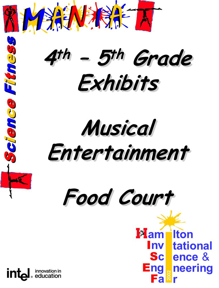 Science FitnessScience Fitness Science FitnessScience Fitness am lton I nv tational ScSc ence & E ng neering FaFa r 2002 4 th – 5 th Grade Exhibits Musical Entertainment Food Court 4 th – 5 th Grade Exhibits Musical Entertainment Food Court