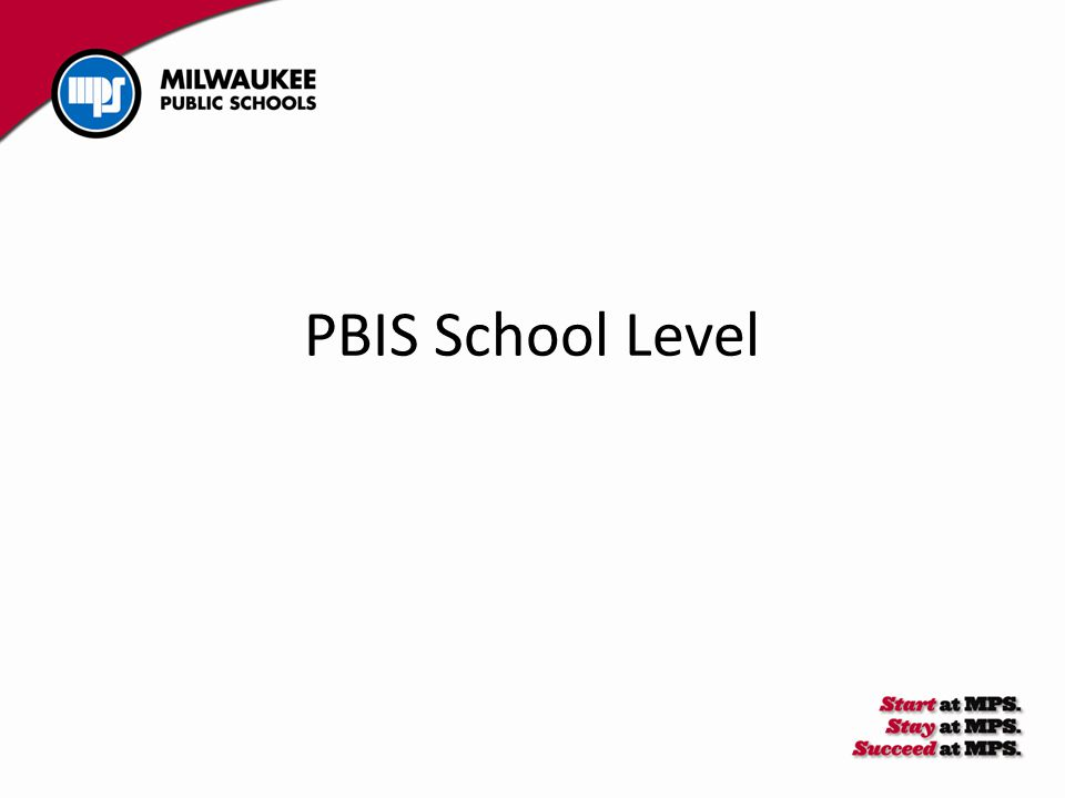 PBIS School Level