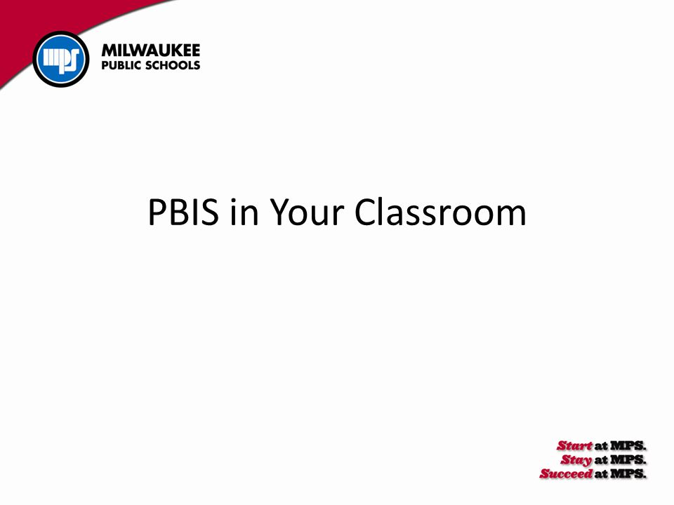 PBIS in Your Classroom