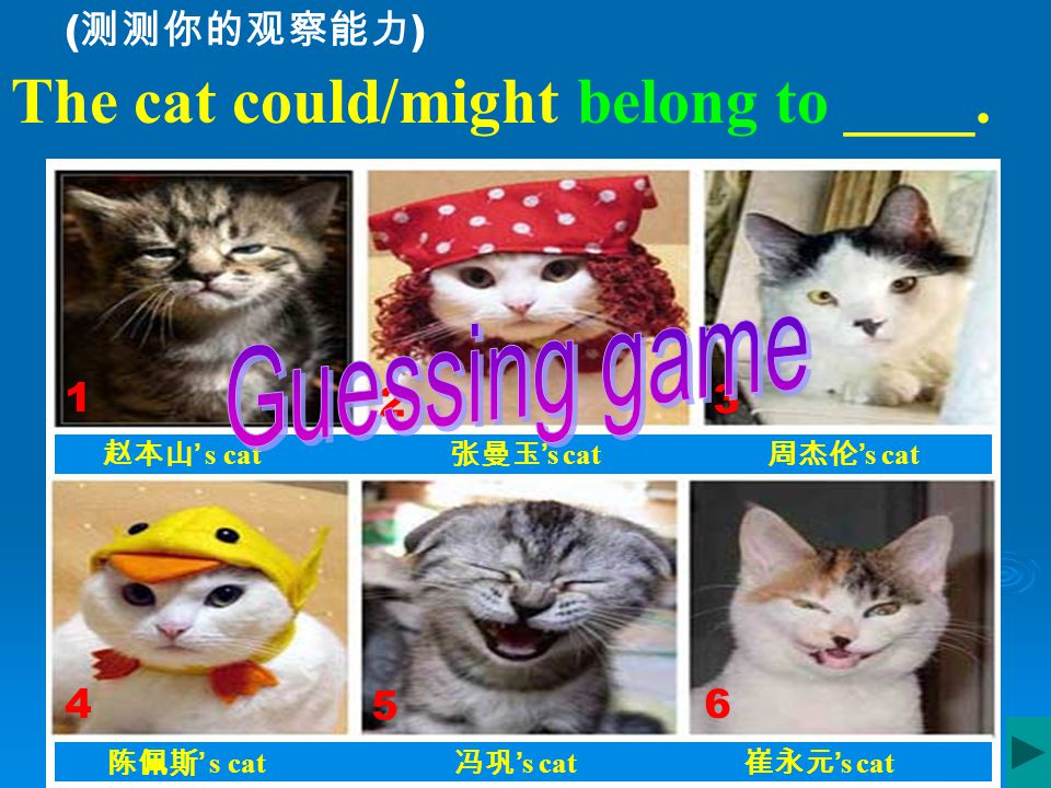 He looked like the cat ate the canary( 金丝雀). Sentence for today: 他看起来很满意