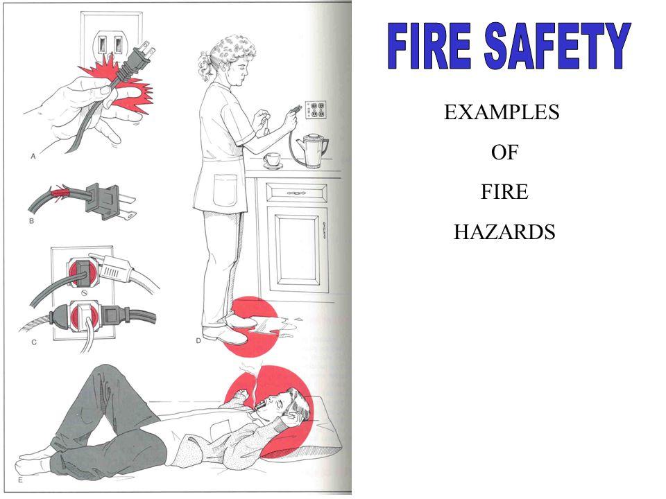 EXAMPLES OF FIRE HAZARDS