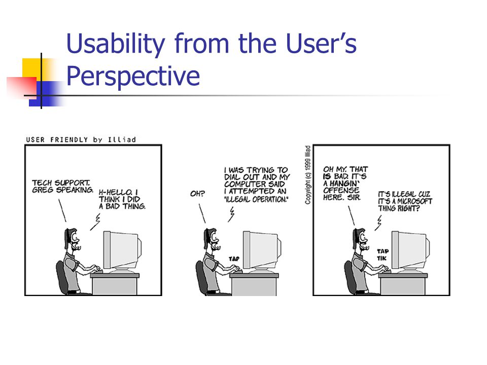 Usability from the User's Perspective