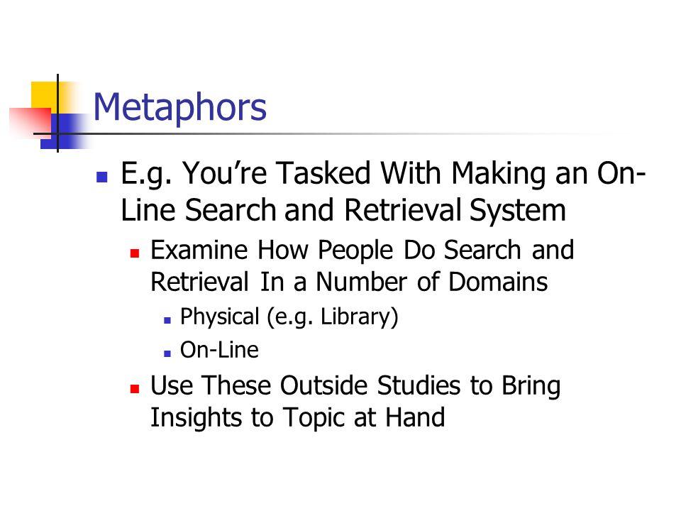 Metaphors E.g.