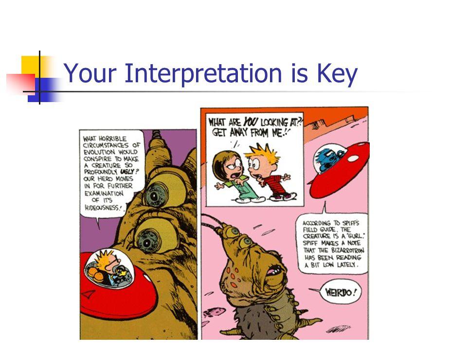Your Interpretation is Key