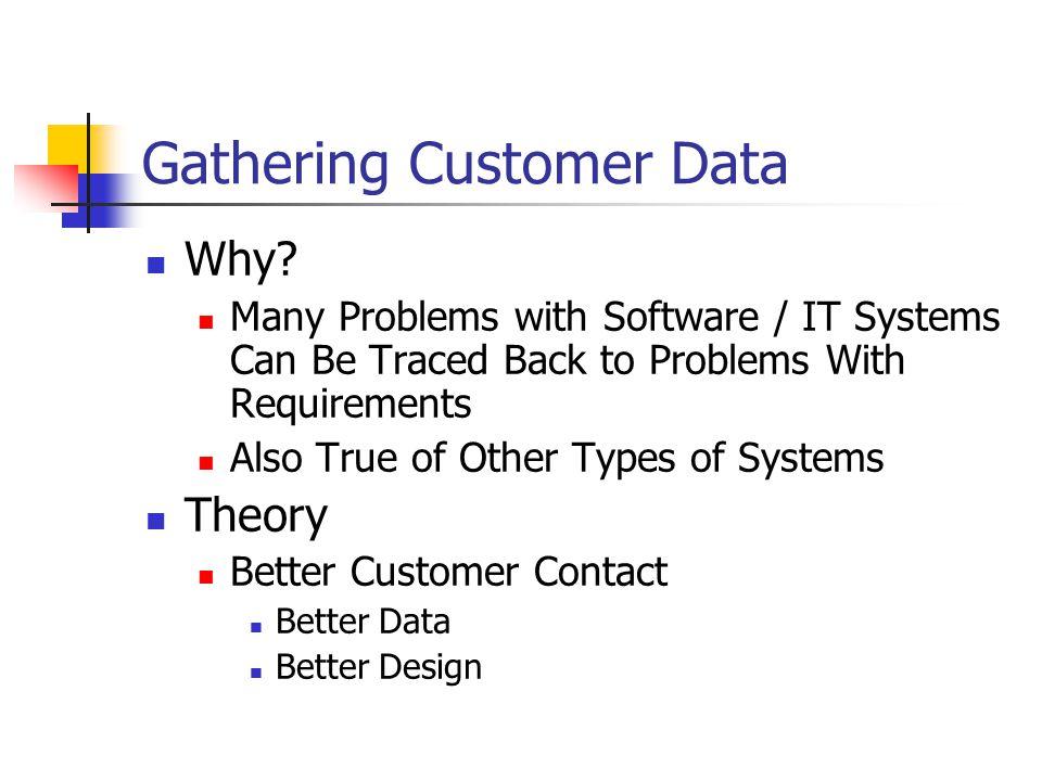 Gathering Customer Data Why.