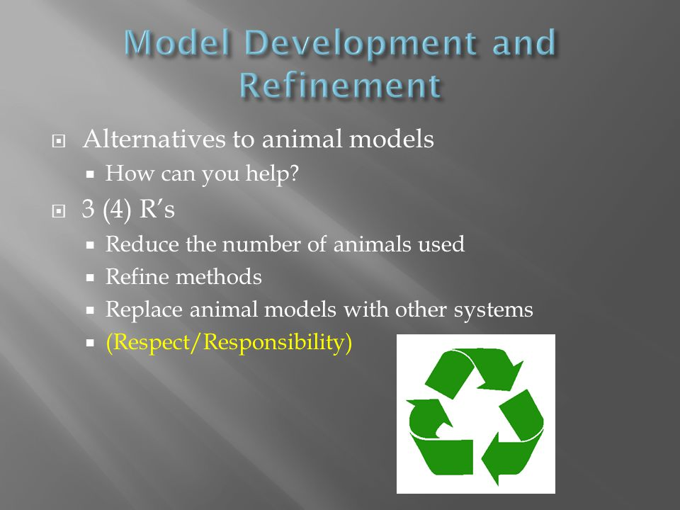  Alternatives to animal models  How can you help.