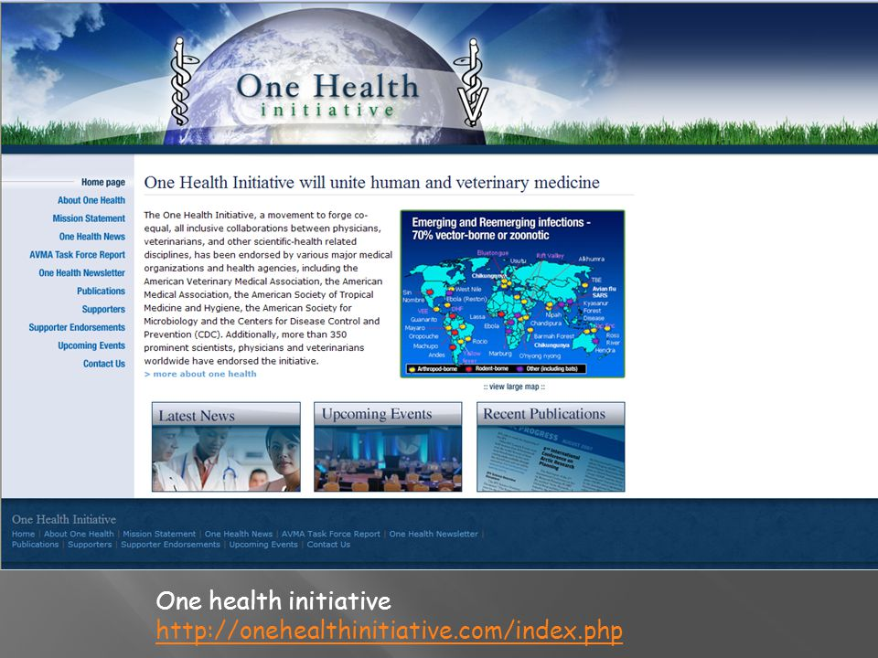 One health initiative http://onehealthinitiative.com/index.php