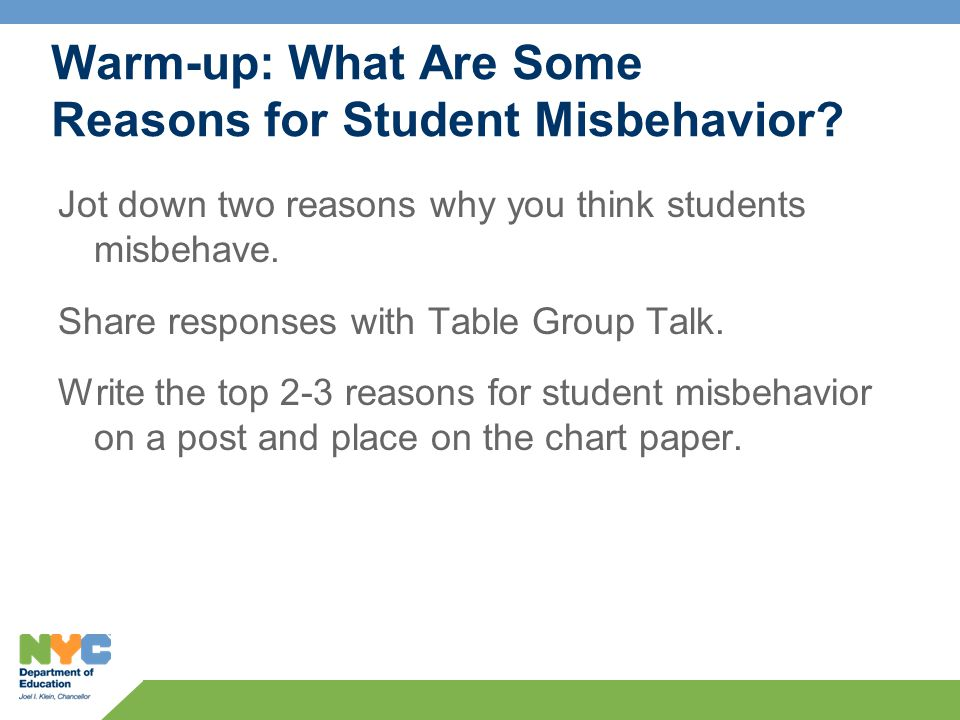 Next Steps  What will you try with students who misbehave.
