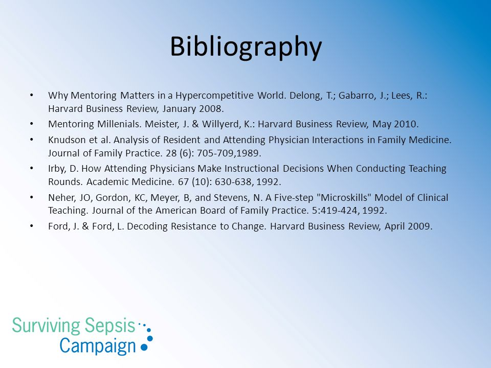 Bibliography Why Mentoring Matters in a Hypercompetitive World.