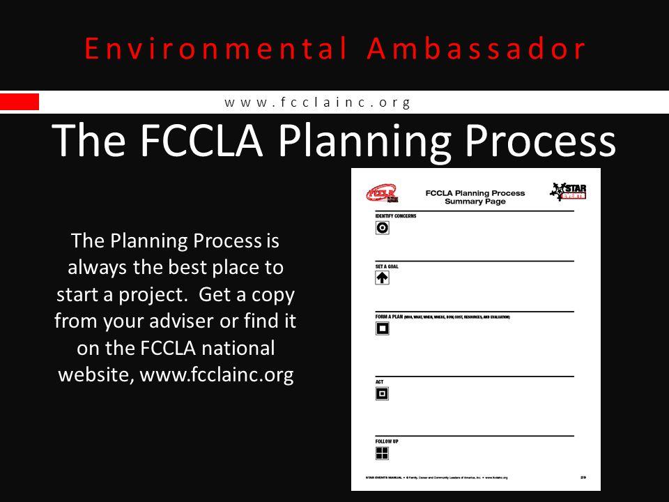 www.fcclainc.org Environmental Ambassador Rubric
