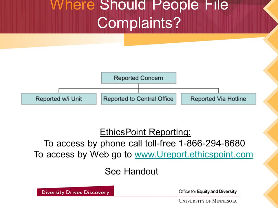 Where Should People File Complaints.