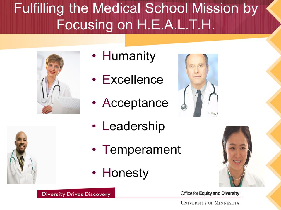 Fulfilling the Medical School Mission by Focusing on H.E.A.L.T.H.