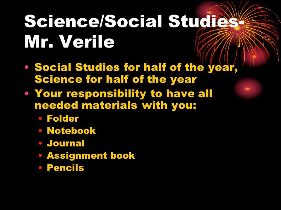 Science/Social Studies- Mr.