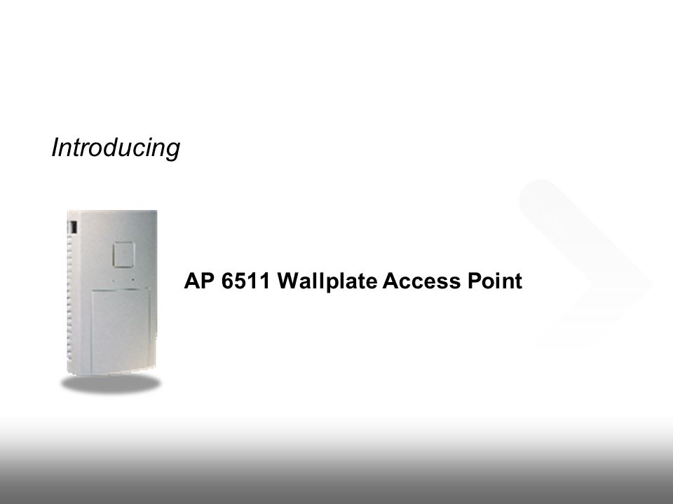 Introducing AP 6511 Wallplate Access Point