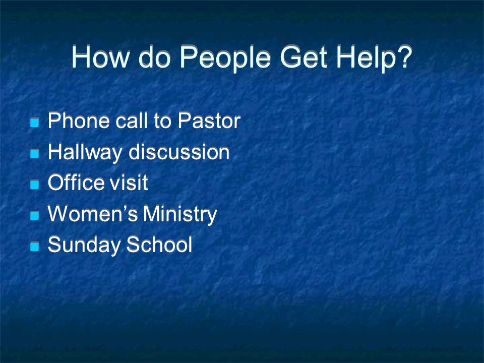 How do People Get Help.