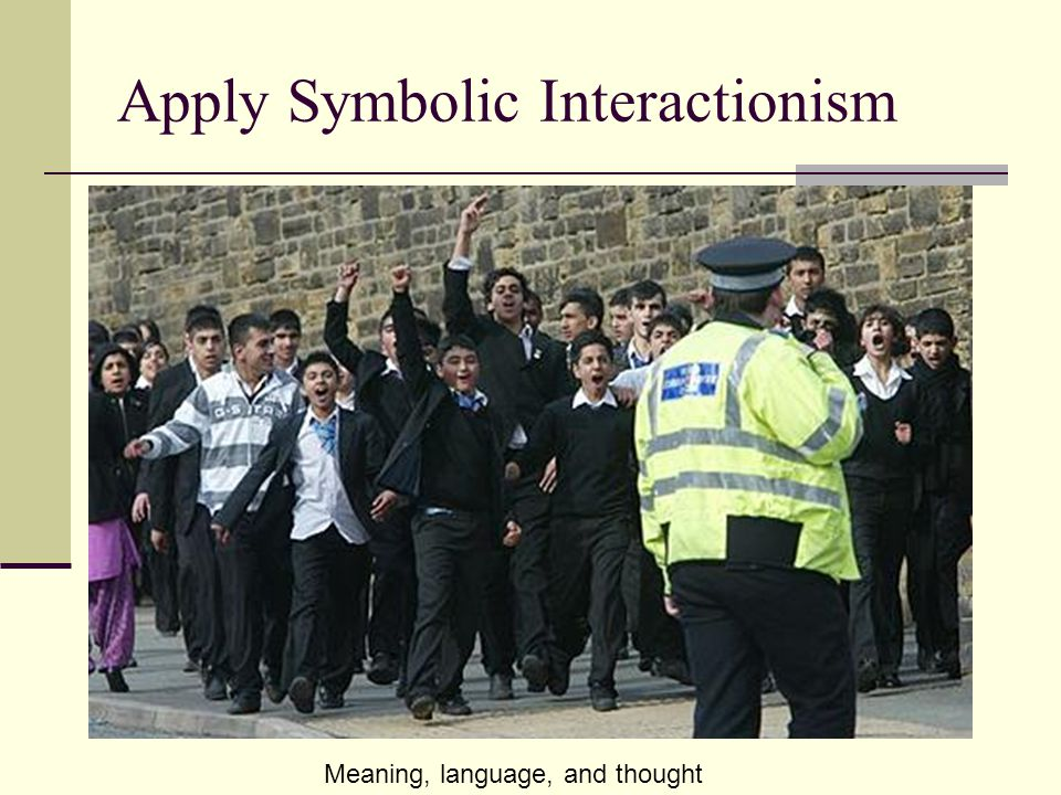 Apply Symbolic Interactionism In the classroom.In the hallway.