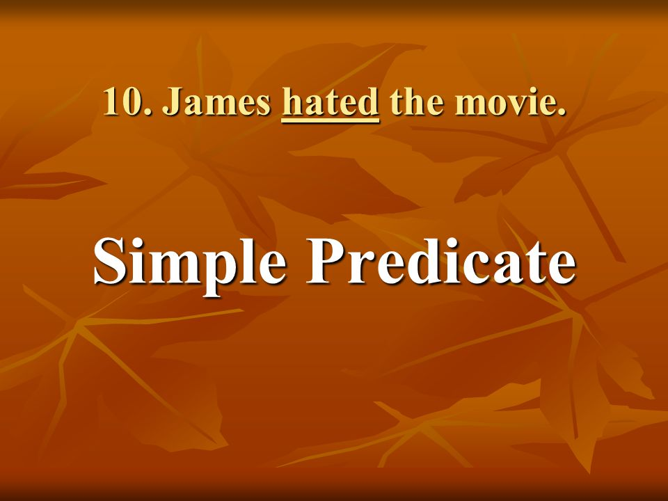 Simple Predicate