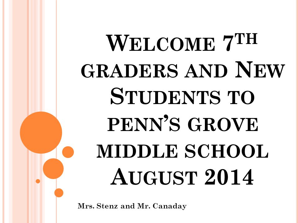 I NTRODUCTIONS Mrs.Stenz, Principal Mr. Canaday, Assistant Principal Mrs.