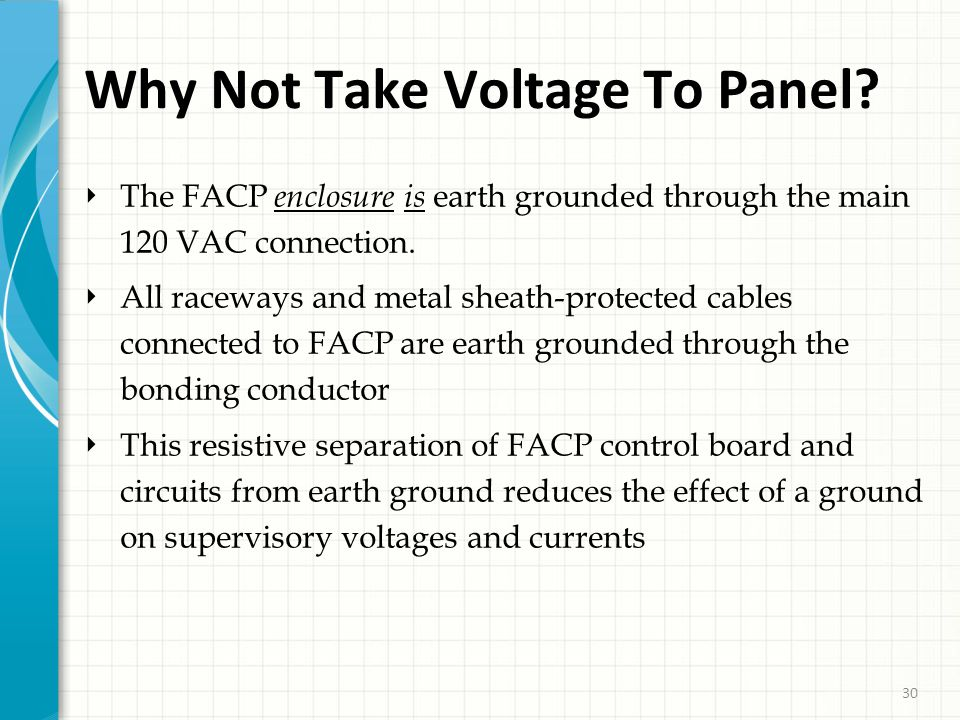30 Why Not Take Voltage To Panel.