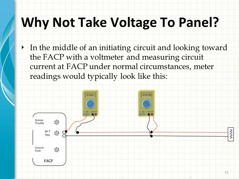 31 Why Not Take Voltage To Panel.