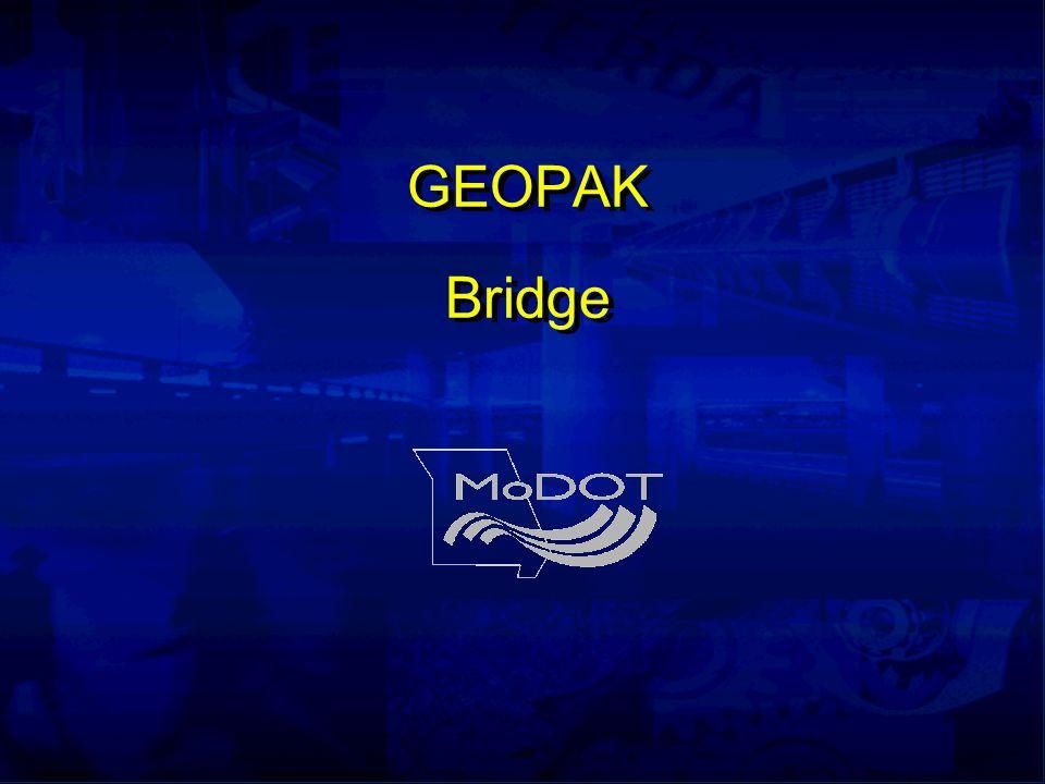 GEOPAK Bridge