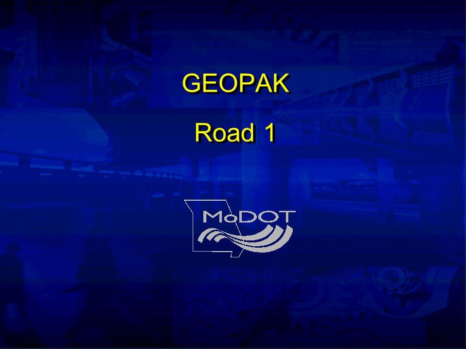 GEOPAK Road 1