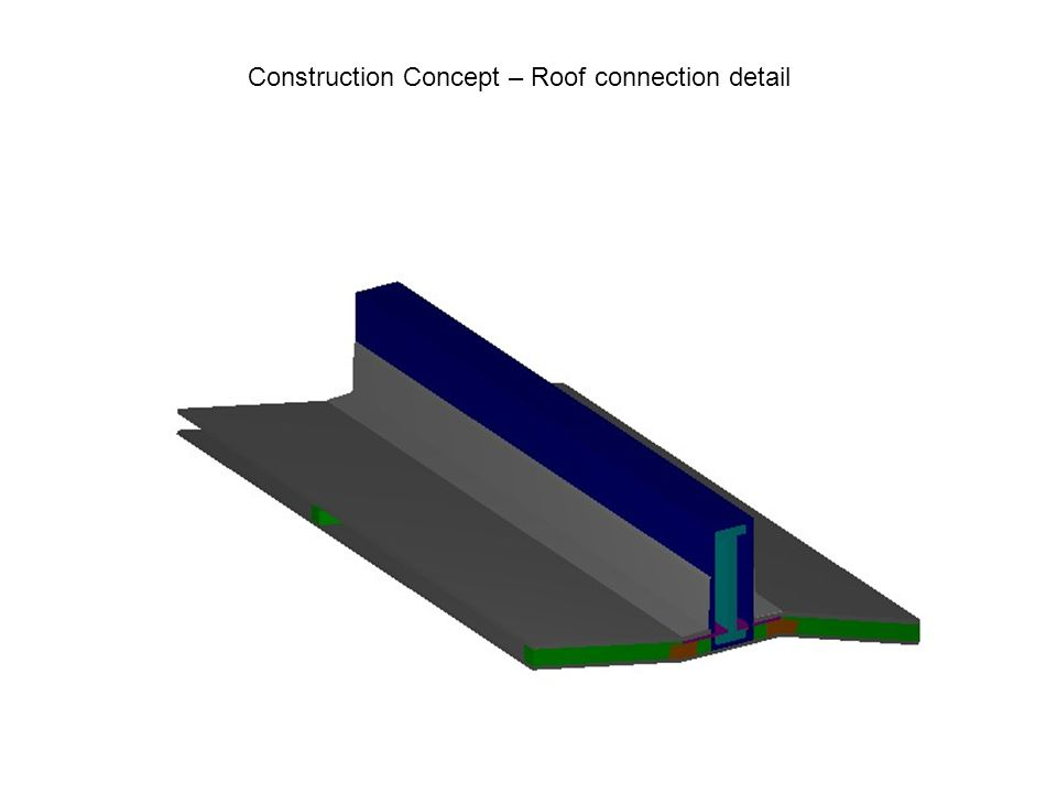 Construction Concept – Roof connection detail