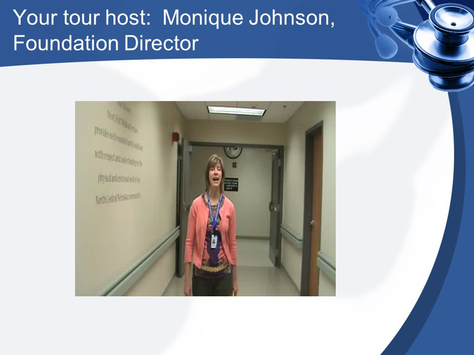 Your tour host: Monique Johnson, Foundation Director