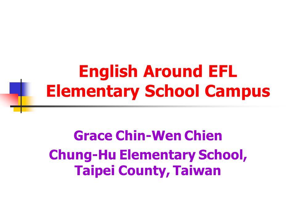 English Around EFL Elementary School Campus Grace Chin-Wen Chien Chung-Hu Elementary School, Taipei County, Taiwan