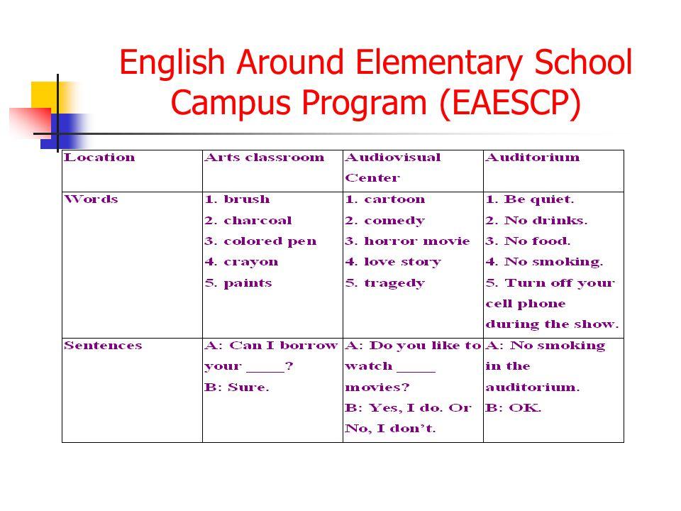 English Around Elementary School Campus Program (EAESCP)