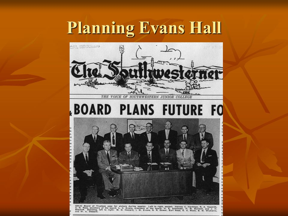 Planning Evans Hall