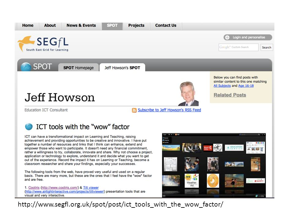 http://www.segfl.org.uk/spot/post/ict_tools_with_the_wow_factor/
