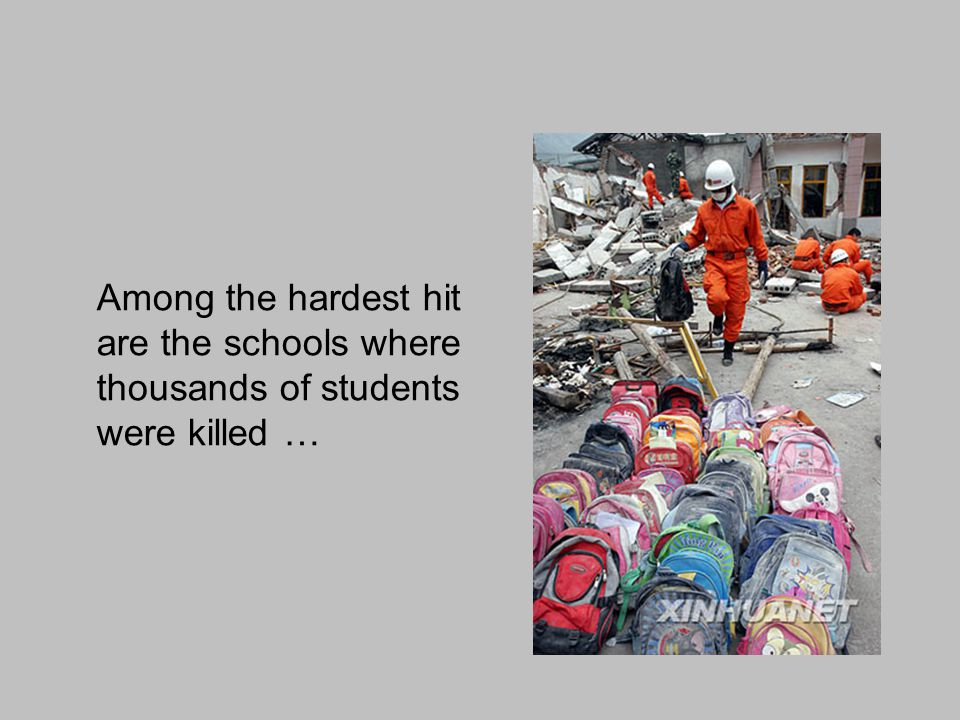 and many more are without classrooms …