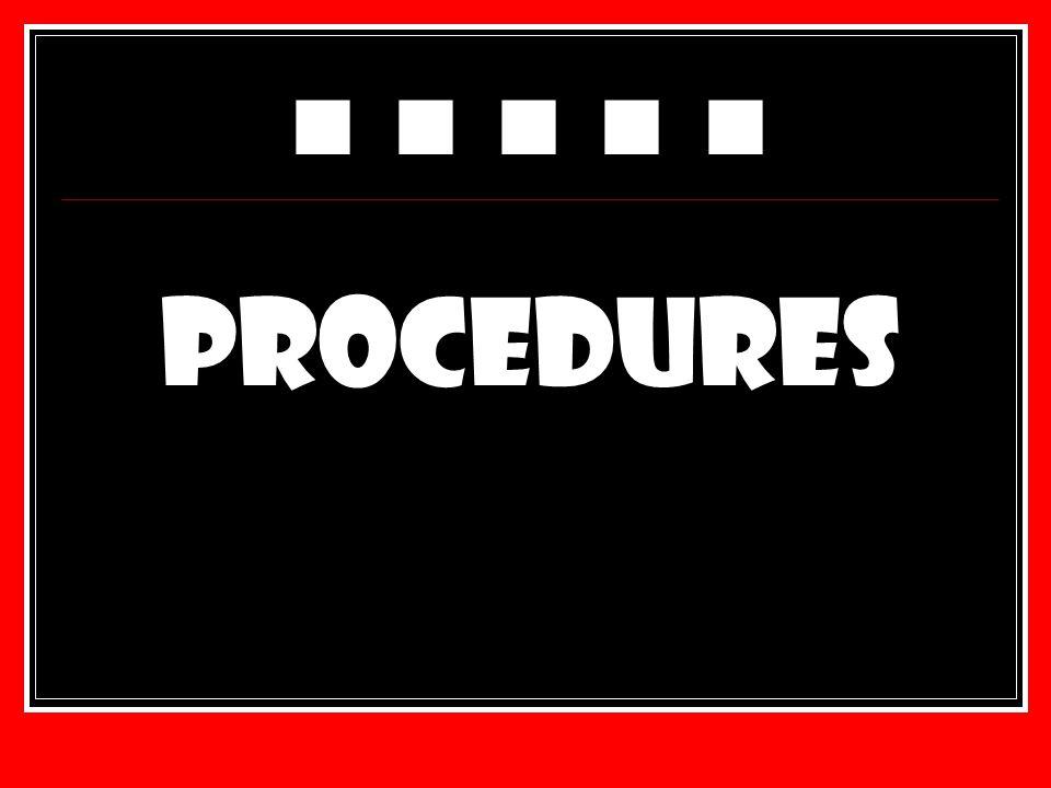 PROCEDURES ■ ■ ■ ■ ■