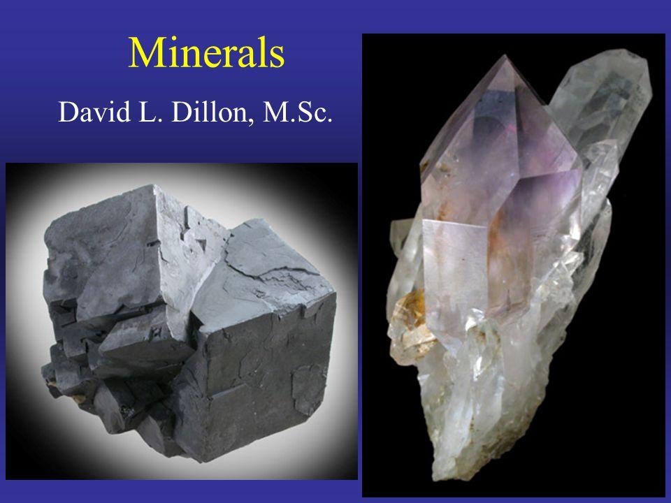 David L. Dillon, M.Sc. Minerals